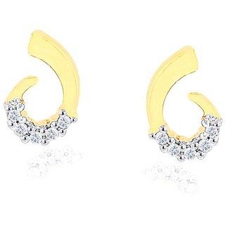 Gili Diamond Designer 18K Yellow Gold Diamond Earring