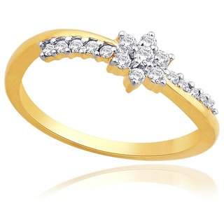 Nakshatra Diamond Designer 18K Yellow Gold Diamond Ring