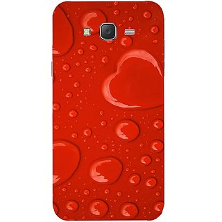 Casotec Drop Heart Shape Design Hard Back Case Cover for Samsung Galaxy J7