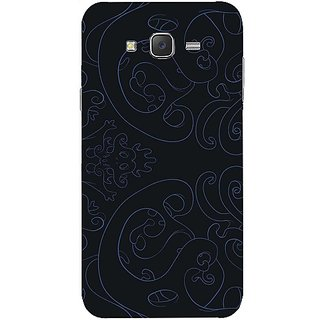 Casotec Pattern Texture Design Hard Back Case Cover for Samsung Galaxy J7