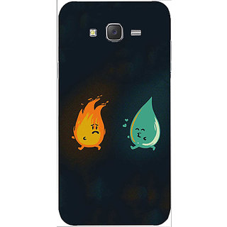 Casotec Fire Water Chase Design Hard Back Case Cover for Samsung Galaxy J2