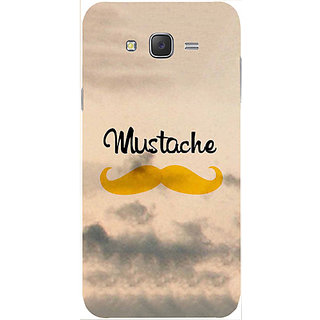 Casotec Mustache Design Hard Back Case Cover for Samsung Galaxy J2