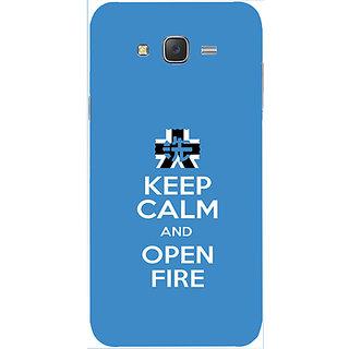 Casotec Keep Calm Inscription Design Hard Back Case Cover for Samsung Galaxy J2