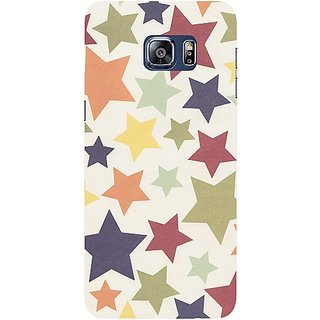 Casotec Star Color Surface Design Hard Back Case Cover for Samsung Galaxy S6 edge Plus