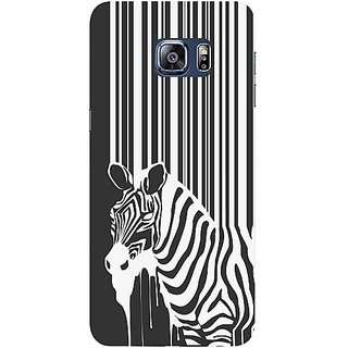 Casotec Zebra Flow Design Hard Back Case Cover for Samsung Galaxy S6 edge Plus