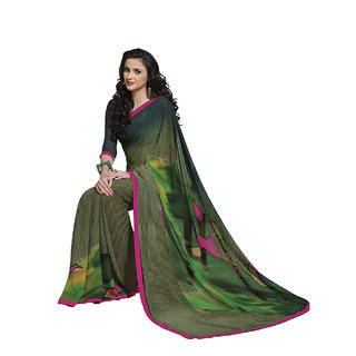 Subhash Sarees Multicolor Colored Chiffon Printed Saree/Sari