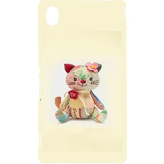 Casotec Toy Cat Design Hard Back Case Cover for Sony Xperia M4 Aqua