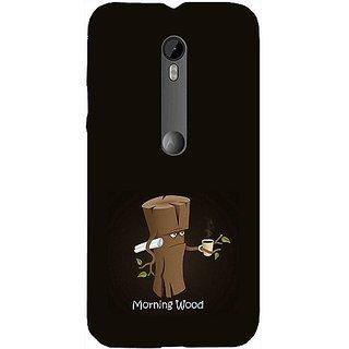 Casotec Tree Art Design Hard Back Case Cover for Motorola Moto G 3rd Generation