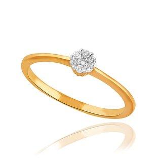 Asmi Diamond Designer 18K Yellow Gold Diamond Ring