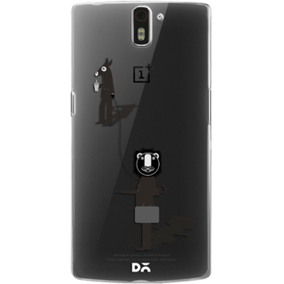 DailyObjects Lion and the donkey Clear Case For OnePlus One