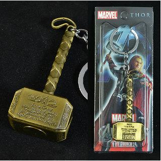 KeyChain Metal Key Chain Golden Thor Hammer Keychain Thor Hammer