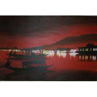 Xm Evening of Kashmir Handmade Painting