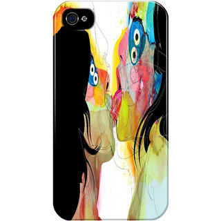 The Fappy Store Kiss Printed Back Cover For Iphone 4