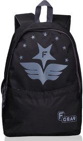 F Gear Saviour 19 Ltrs Printed backpack(Black Grey)