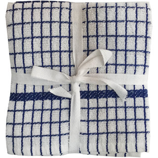 Lushomes Blue Set of 2 Terry Kitchen Towels (Size 20x20)