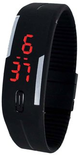 PRUSHTI Rectangle Dial Black pu Automatic Kids watch