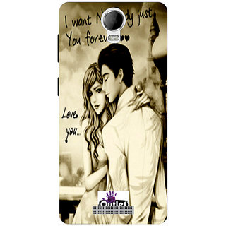 HI5OUTLET Premium Quality Printed Back Case Cover For Micromax Canvas Juice 2 AQ5001 Design 42