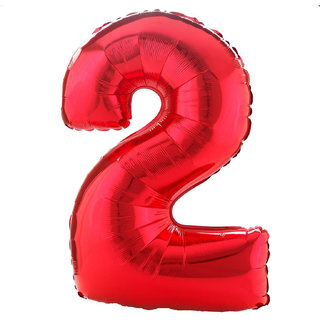 MyBirthdaySupplies Number 2 Red Balloon Pack of 1