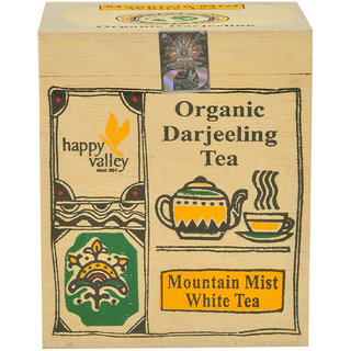 Roll over image to zoom in Happy Valley Organic Darjeeling Mountain Mist White Tea 25 gms