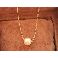 Elegant and simple imitation pearl pendant with chain