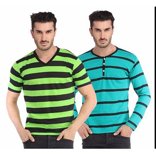 Leana Green Black Sea Black Men Tshirt Combo Pack Of 2
