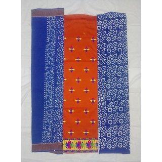 Orange Cotton Dress Material