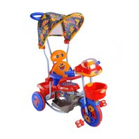 Laxmi Cycle Stores Tricycle With Canopy Yellow And Blue Tricycles