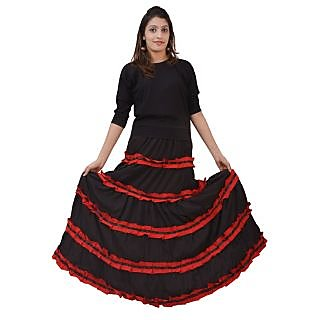 Womans Girls Skirt Black