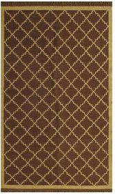 Rugsville Dhurrie Modern Multi Wool Handmade 13647 5x8 Rug