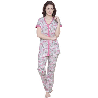 Claura Cotton Butterfly Print Lower and Top