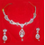 Metal Multistrand Necklace With Drop Earring For Women
