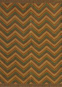 Rugsville Dhurrie Southwestern Multi Wool Handmade 13686 4x6 Rug