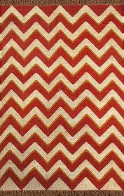 Rugsville Dhurrie Modern Multi Wool Handmade 13733 4x6 Rug