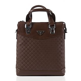 Abassi women brown Leather business bag-15-4