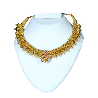Soubhagya Jewellers Trendy Indian Ball Thushi Necklace Set