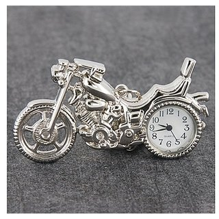 Pocket Watch With Keychain/Buckle (Silver) M.