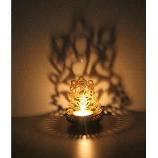 Arts & Kraft Special Lakshmi T Light Holder, Shadow Diya( 1 T Light Free )