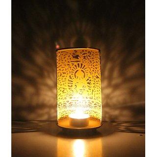 Arts & Kraft Mahavir Buddha Wall Shadow Diya T Light Holder Cum Candle Stand