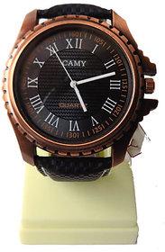 Mens Formal Black Dial Black Strap Wrist Watch For Men