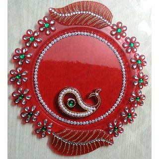 Pooja Thali RED Color