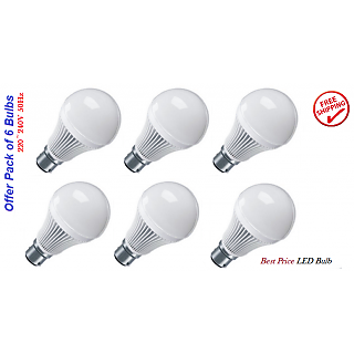 LED Bulb Combo Offer 7W (6x7W LED bulbs)