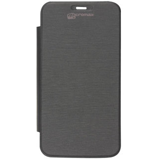 micromax D200 black flip cover