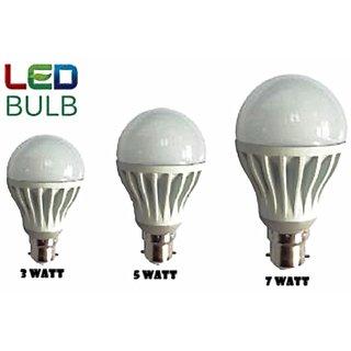 Combo Of 10w,12w,15w Led Bulb(set of 3)