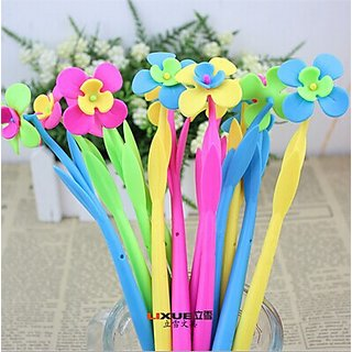 12pcs Silicone Soft flower Shaped pen