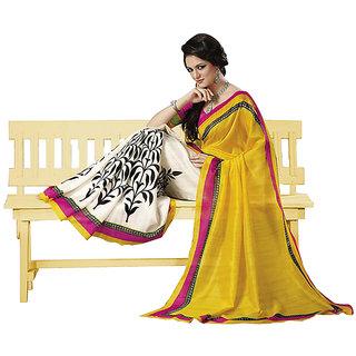 Triveni Saree Raw Silk Multi Color Printed Saree with Blouse TSVF7210
