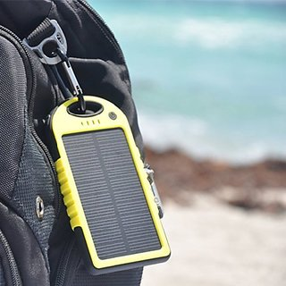 Buy Water And Dust Resistant Solar Power Bank Yellow