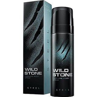 Wild Stone Steel Body Deodorant For Men 120 ml