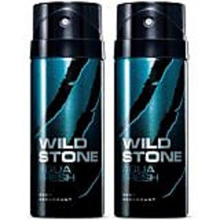 Wild Stone Aqua Fresh Deodorant 150ml (for Men) Combo Pack of 2