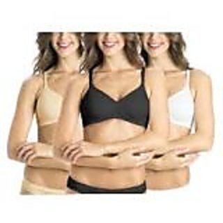 6 PC Ladies Cotton Bra Astd Color Size 32