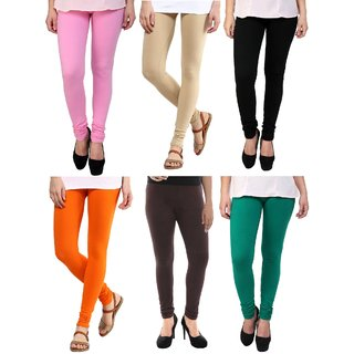 Stylobby Multi Color Legging Pack Of 6 BpBeBOrBrG6